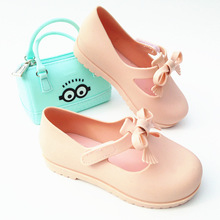 2017 Mini messa Girls Sandals Spring Summer New Girls Jelly Shoes Sandals Casual Shoes messa Anti-Skid Sandalia 14cm-16.9cm