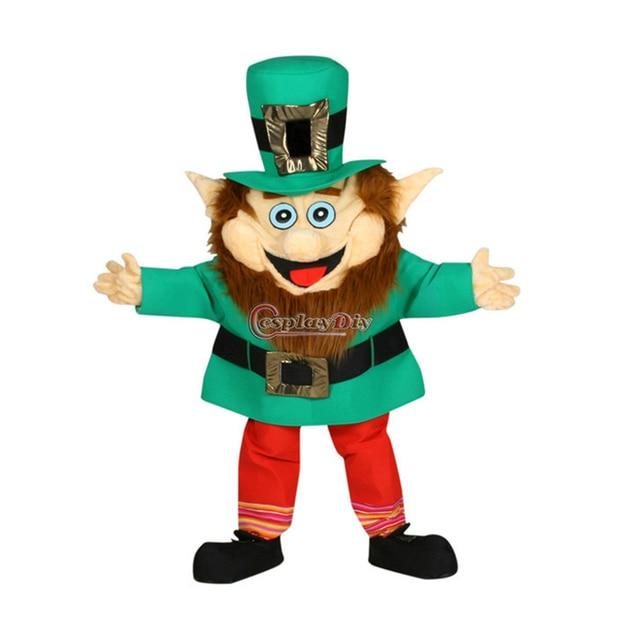 Cospalydiy Popular Cartoon Character Leprechaun Larry Mascot Animal Costume Mascot Halloween and Christmas Party Costume L0516