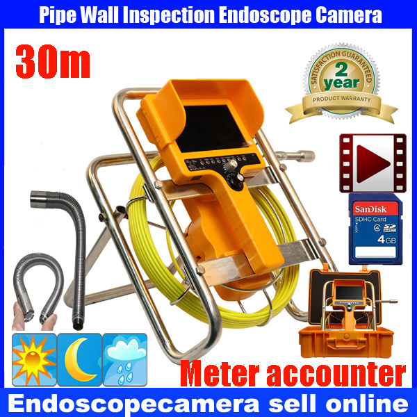 90 degree Sewer Waterproof Video Camera 7LCD Screen Drain Pipe Inspection camera with DVR 30m cable with meter counter 90 degree Sewer Waterproof Video Camera 7LCD Screen Drain Pipe Inspection camera with DVR 30m cable with meter counter