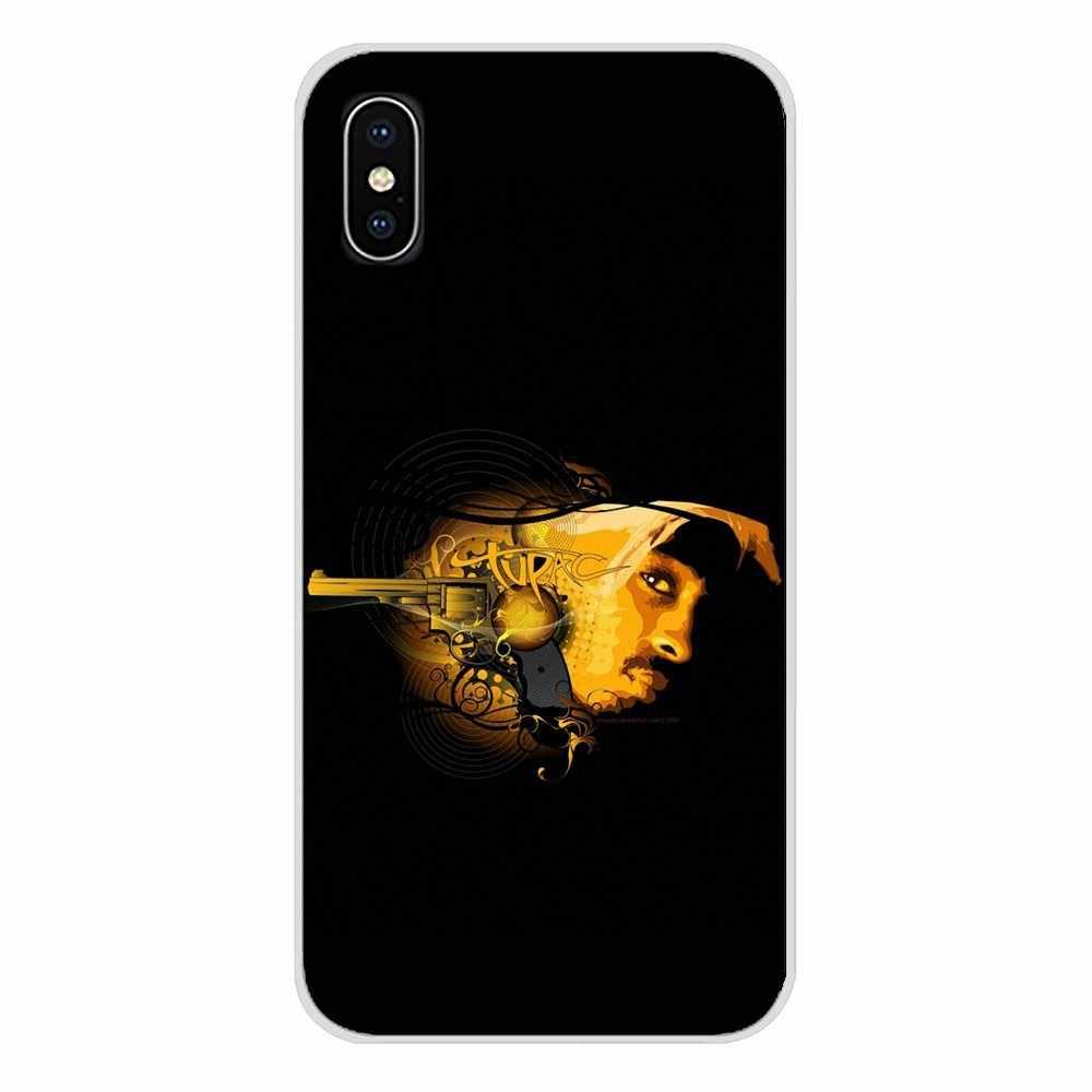 2Pac Тупак Шакур хип хоп рэппер для Apple IPhone X XR XS MAX 4 4s 5 5S 5C SE 6 6 S 7 8 Plus ipod touch 5 6 Чехол для мобильного телефона