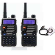 New launch 2pcs Walkie Talkie 5w Two-Way Scanner UV 5RE Radio Communicator For Ham Portable Radio Station HF Transceiver
