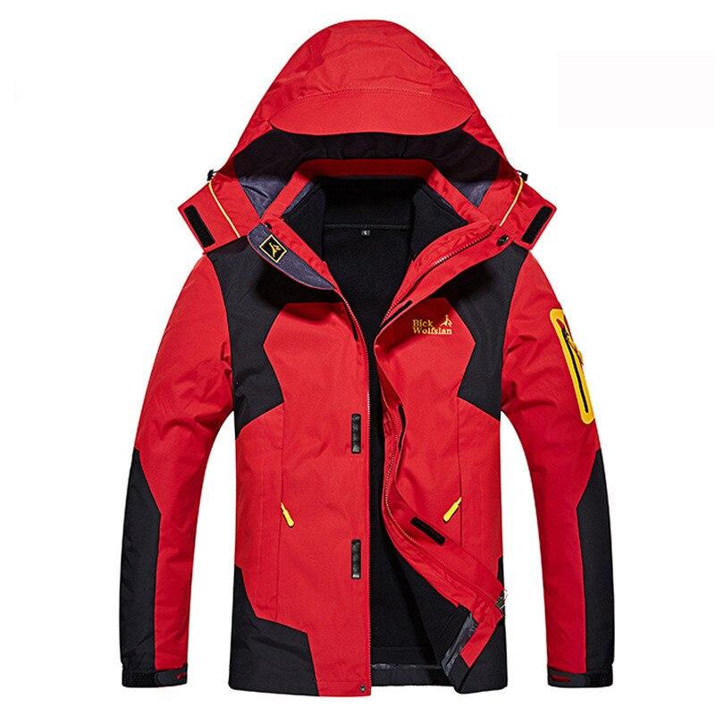 Veste de Ski d'hiver russe veste de neige imperméable pour hommes manteau thermique pour extérieur Ski de montagne veste de Snowboard de grande taille marque
