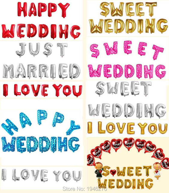 Happy Wedding Letters I Loveyou Marry Me Alphabet Party Decorations