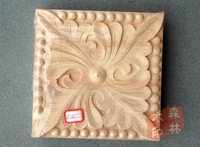 Wood Antique Furniture Dongyang Wood Carving Motif Wood Applique Capitales 20cm Fashion Patch