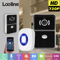Doorbell With 720P Camera Video Intercom Phone WIFI Door Bell IOS Android Compatible With LO DBV01P