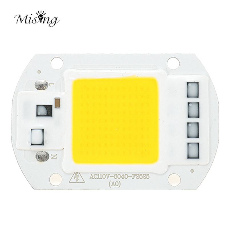 Mising AC110V/AC220V 20W 30W 50W White/Warm White DIY COB Chip Bead For DIY Flood Light