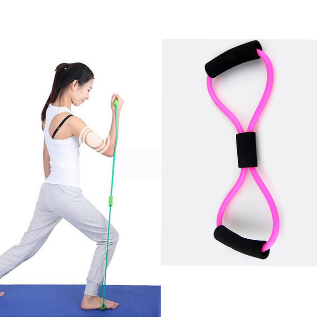 Resistance Training Bands Tube Workout Exercise For Yoga  Type Body Building Fitness Equipment Tool Sophisticated