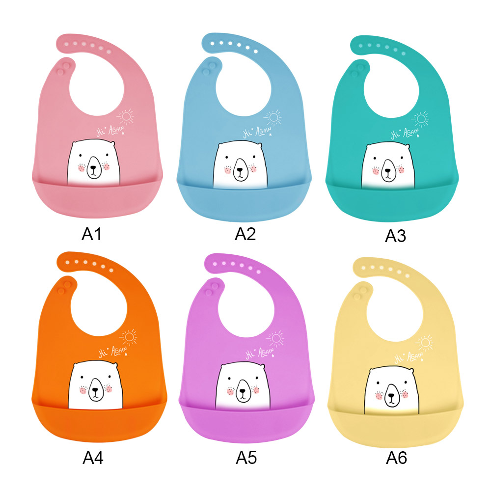 Accessories Bibs & Burp Cloths Baby Waterproof Baby Silicone Bibs Burp Cloths Toddler Kids Adjustable Feeding Apron Cartoon Saliva Bandana Washable Attractive Designs;