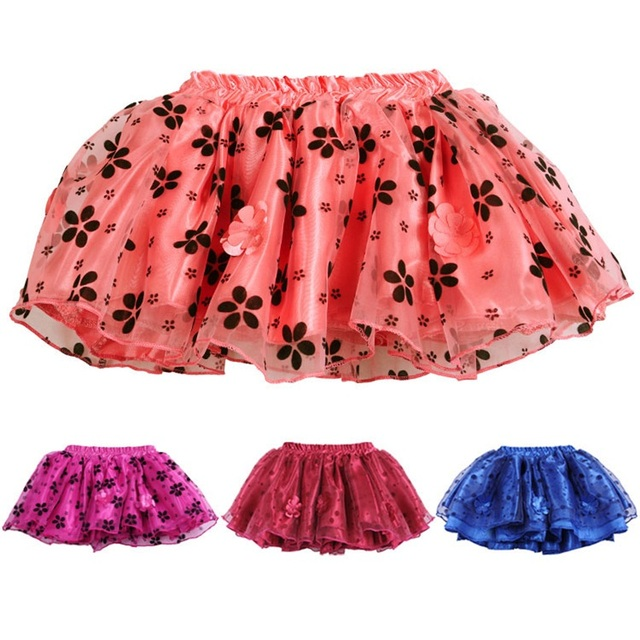 Summer months Baby Pure black flower tutu skirt new cake tutus girls skirts children short skirts
