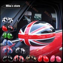 Nuovo PC Copertura Laterale Dello Specchio Retrovisore Al di Fuori Cap Borsette per mini rame F55 F56 auto-design della parte posteriore della copertura dello specchio con foro sticker