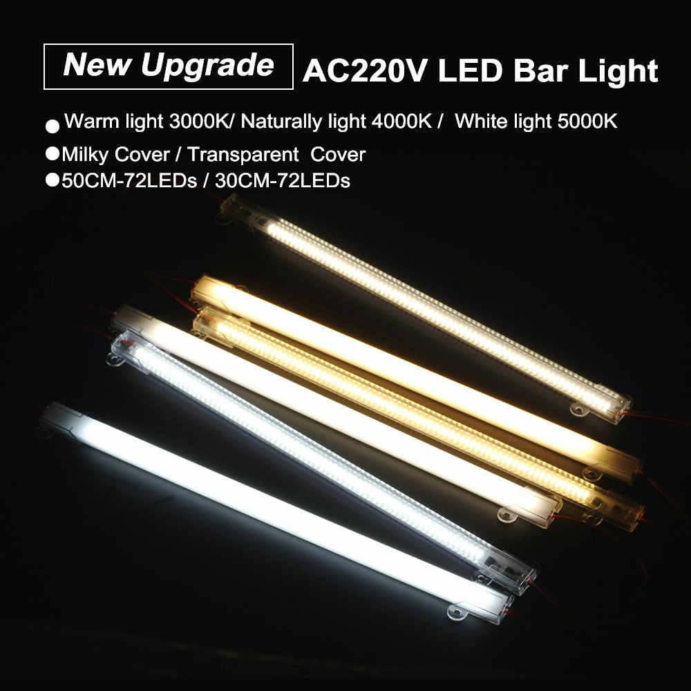 Светодиодная лампа AC220V высокой яркости 8 Вт 50 см 30 см 72 светодиода 2835 Светодиодная жесткая лента энергосберегающие светодиодные флуоресцентные трубки 5 шт./лот.