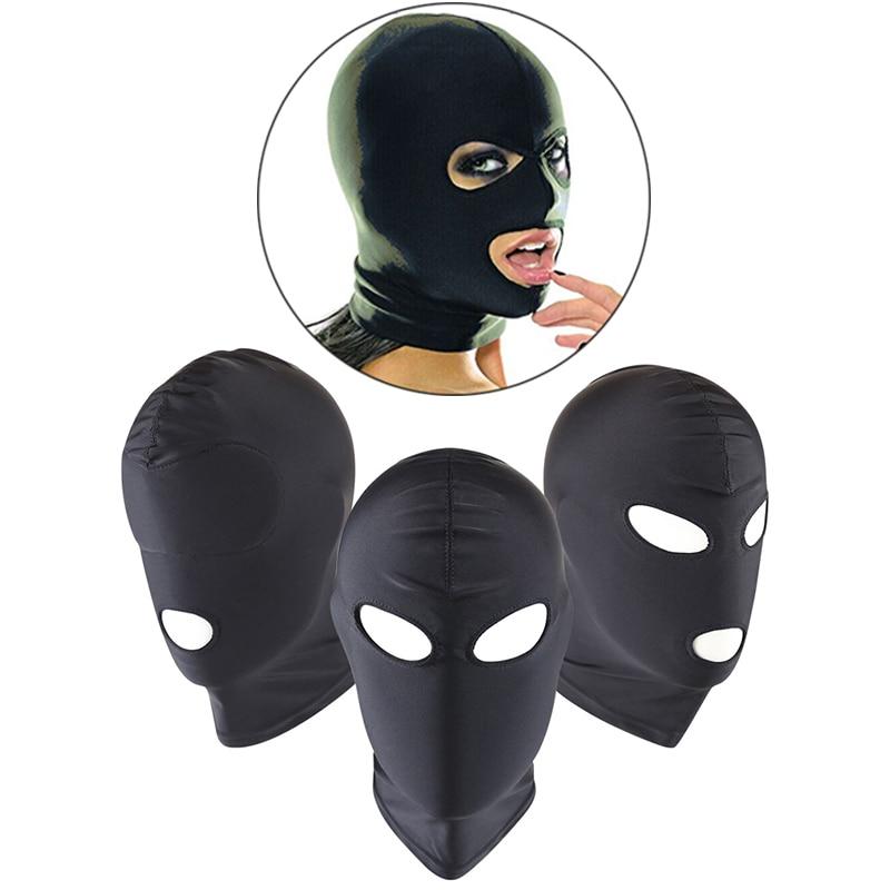 BDSM Bondage Porno Sex Fetish Mask Hood Sexy Toys Mouth Erotic Prostate Party Mask Cosplay Slave Punish Headgear Adult Games