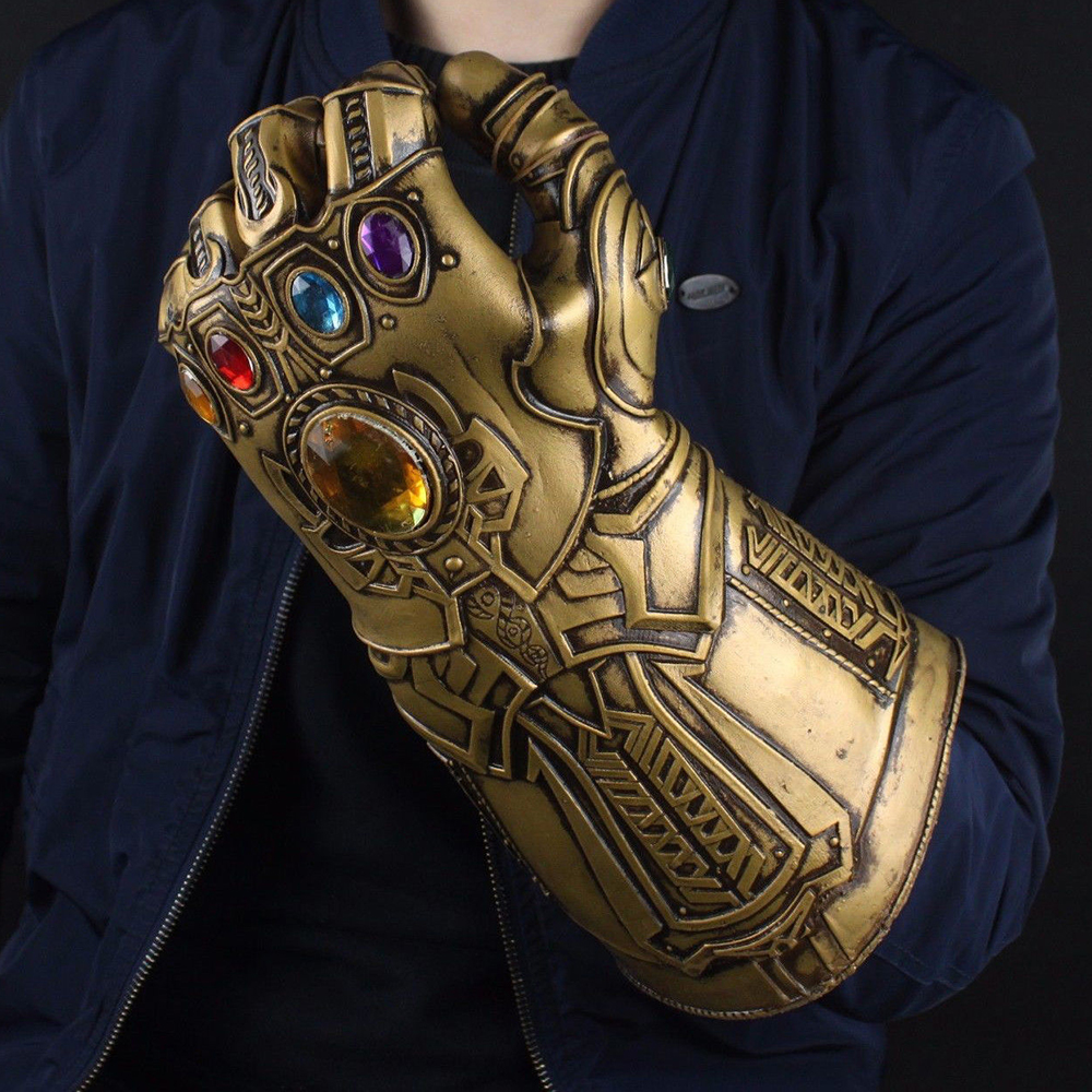 Cool Avengers 4 Infinity War Infinity Gauntlet LED Light Thanos Gloves Cosplay