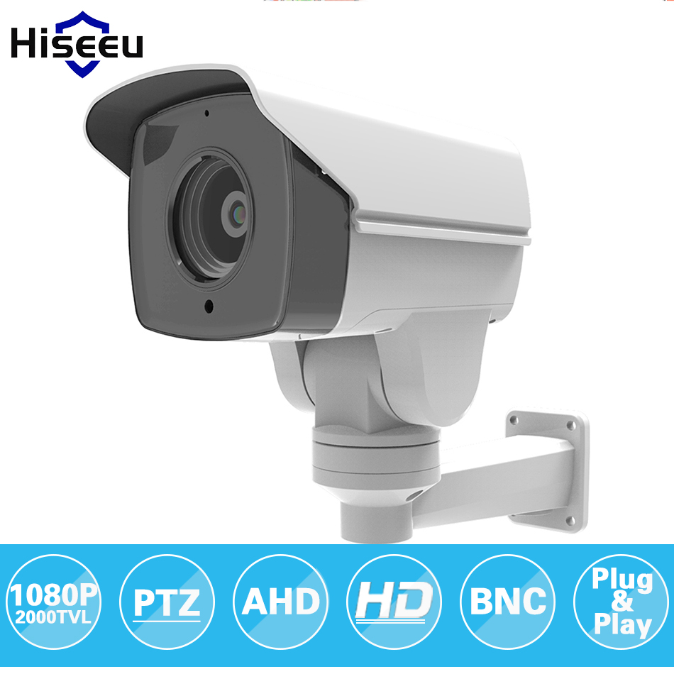 Hiseeu AHDH 1080P CCTV Camera PTZ Bullet 10X Zoom Night Vision Outdoor Waterproof IR-CUT ONVIF Plug and play Freeshipping AHD402