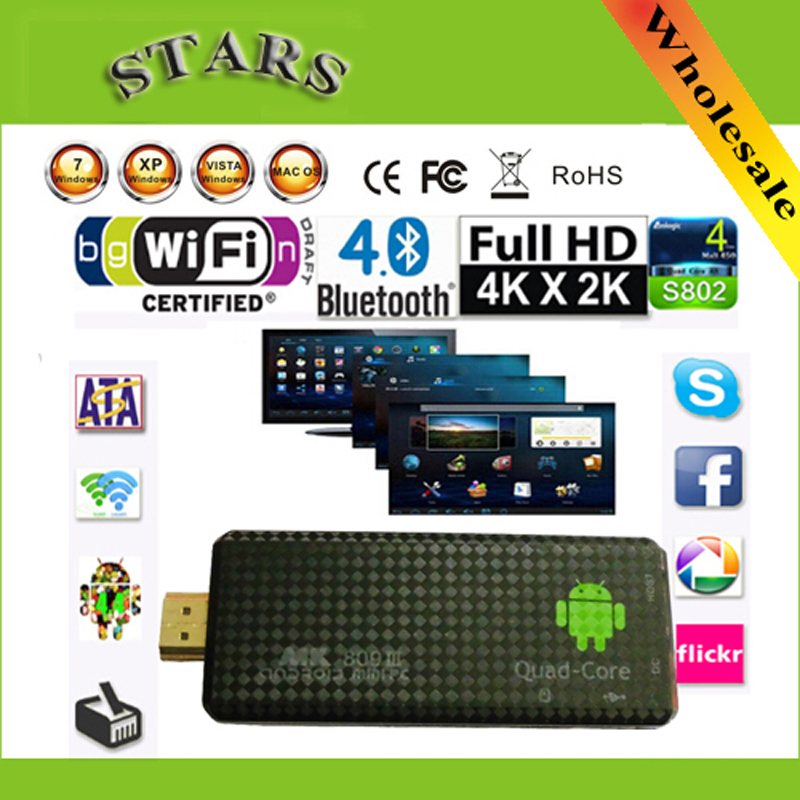 Android 4.2.2 mini PC Quad core RK3188 Google TV Box MK809III 2GB RAM 8GB ROM Bluetooth Wifi HDMI tv stick MK809 III ourspop mk823 rii x1 air mouse quad core android 4 2 google tv player w 2gb ram 8gb rom xbmc
