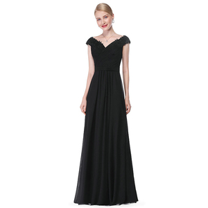 Image 5 - אמא של הכלה שמלות בתוספת גודל חדש אלגנטי קו V צוואר אפליקציות ארוך חתונת המפלגה שמלות 2020 Vestido novia מנגה