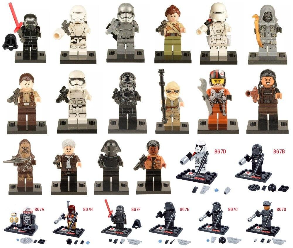 Star Wars 7 The Force Awakens Finn Rey Kylo Ren The Force Awakens Jedi Minifigures Building Blocks Bricks Toys  Compatible