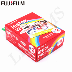 Image 4 - 10 100 Sheets Fujifilm Instax Wide White edge + Rainbow + Black Films for Fuji Instant Photo paper Camera 300/200/210/100/500AF