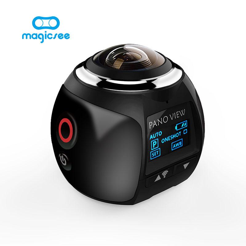 Prix pour V1 4 K 360 D'action Caméra Wifi Mini Caméra Panoramique 2448*2448 Ultra HD Caméra Panoramique 360 Degrés Sport conduite VR Caméra