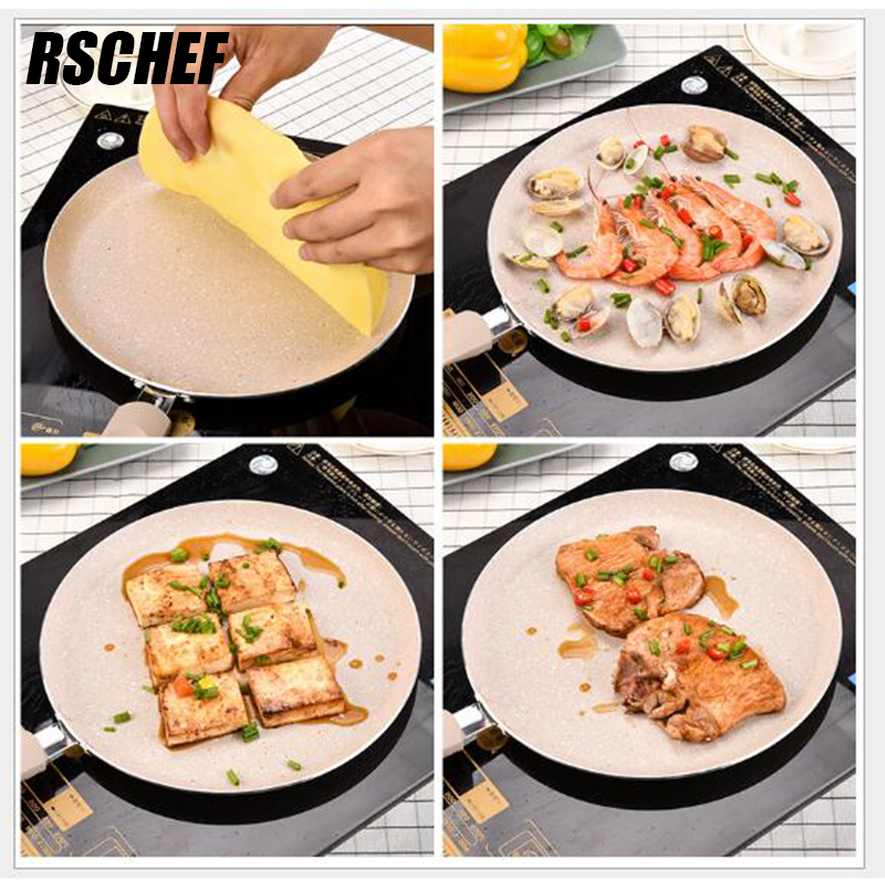 1 Pcs Professional Cooking Pan 9.5 Health Griddles & Grill Pans Aluminum Alloy Non-stick Gas Cooker cooking Oven&Dishwasher