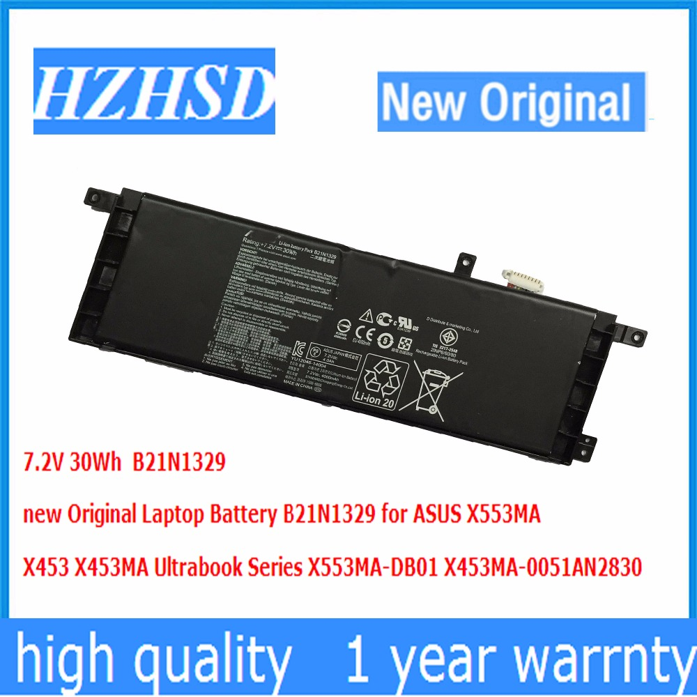 7.2V 30Wh new Original Laptop Battery B21N1329 for ASUS X553MA X453 X453MA Ultrabook Series X553MA-DB01 X453MA-0051AN2830 new laptop dc power jack socket for asus d553m f553ma x453ma x553 x553m x553ma series charging port connector