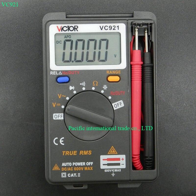 VICTOR 3 3/4 Multitester VC921 3999 DMM VICTOR Mini Intégré De Poche Poche Numérique Fréquence Multimètre