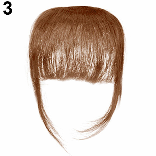 Fashion Women Girl Thin Straight Clip on Front Fringe Bangs Hair Extension