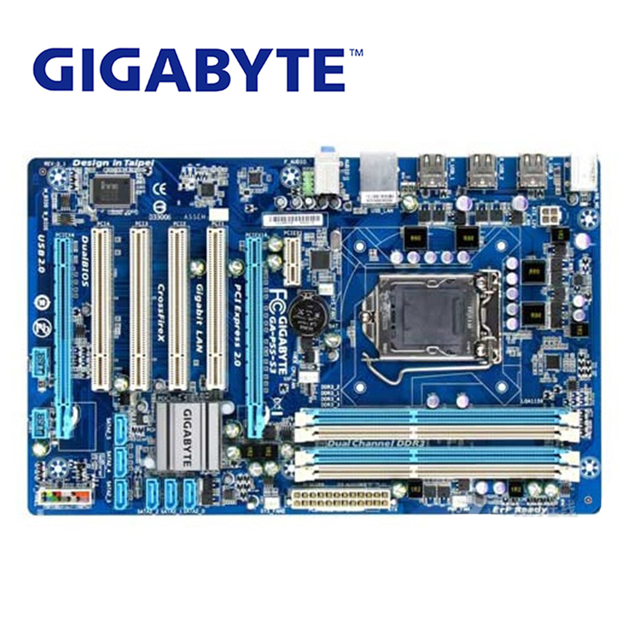 цена на LGA1156 DDR3 Gigabyte GA-P55-S3 100% Original Motherboard 16G H55 P55 S3 P55-S3 Desktop Mainboard Systemboard Used Mother board