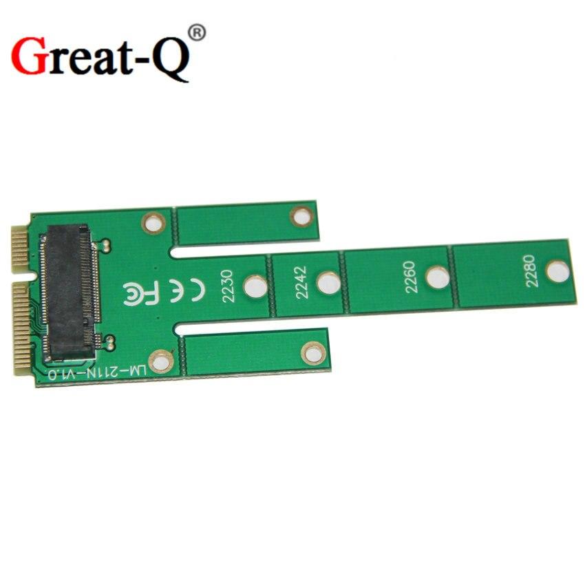 Great-Q NGFF M.2 B clave SSD a MSATA Adaptador PCIE MINI Tarjeta de - Cables de computadora y conectores - foto 1