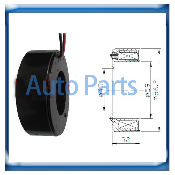 Fine Hs 110R Hs110R Compressor Clutch Coil For Honda Cr V Crv In Air Wiring Database Gramgelartorg