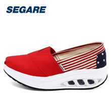 Summer Shoes Women's Sport Swing Running shoes Wedges platform zapatos mujer canvas trainers feminino Toning Shoes