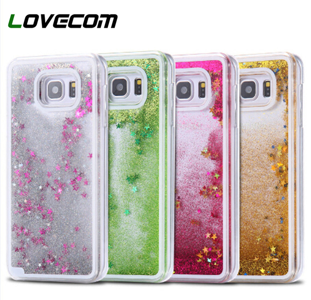 5c6a252a3 LOVECOM For Samsung Galaxy S8 Plus S4 S5 S6 S7 Edge Case Back Cover Glitter  Star Dynamic Liquid Quicksand Transparent Hard Cases