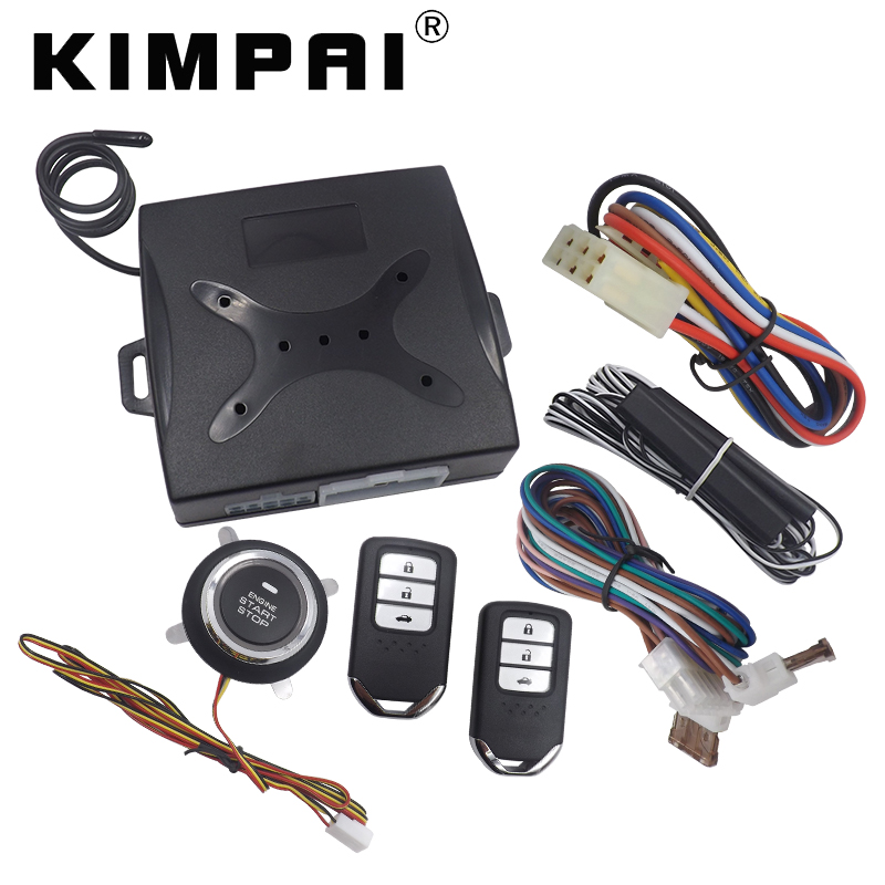 KIMPAI Car Remote Keyless Push Start Stop Button Alarm Remote Unlock Car Auto Window Up Output Device System Fit For Honda window closer for porsche cayenne panamera macan auto power car window roll up rearview mirror and remote open trunk