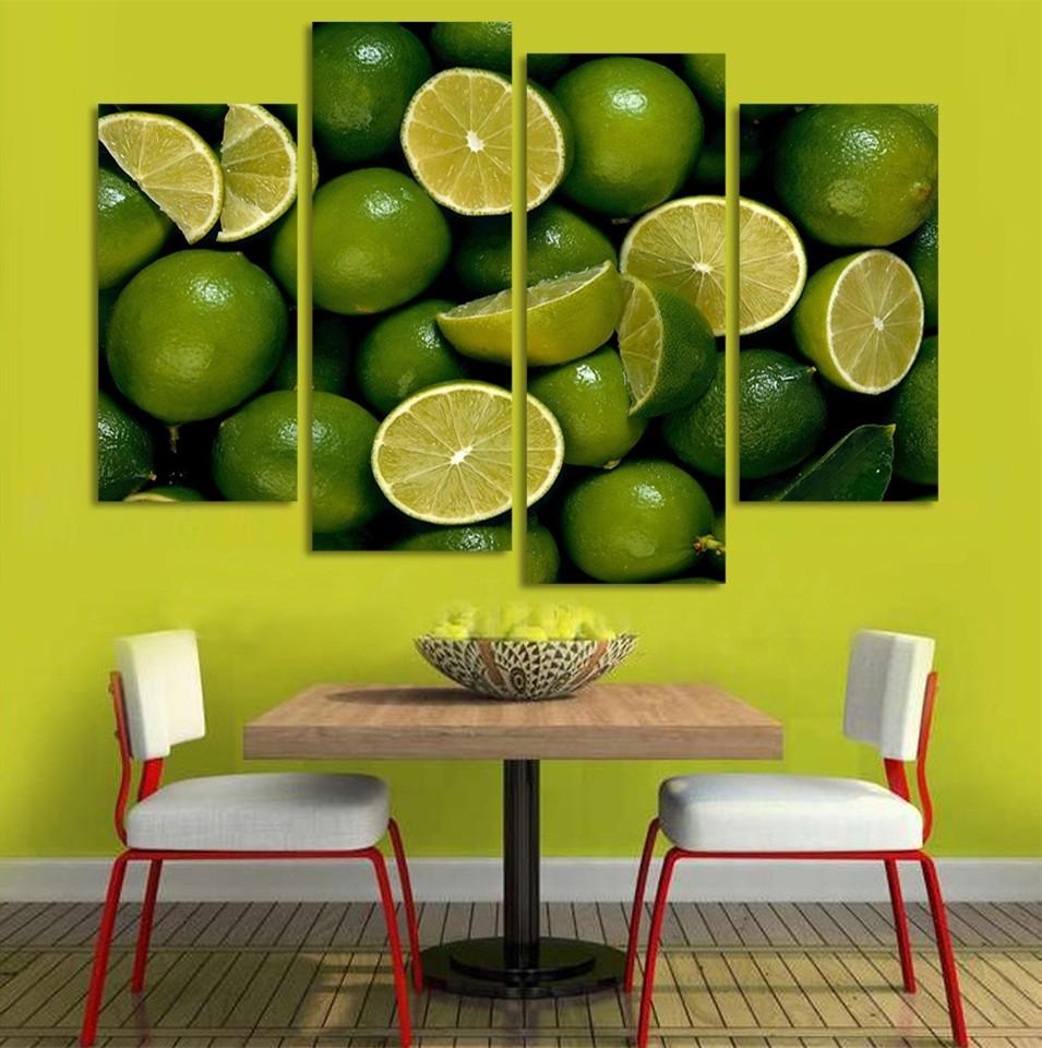 impresin de la lona pintura al leo bodegones lemon fruit arte cartel cuadros decorativos para cocina