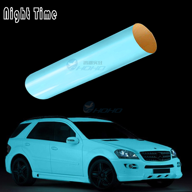 Glow in the dark car bike boat wrap vinyl 152cm x 1000cm with air bubble HQ d5ea7f097726