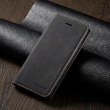 Деловой кожаный флип чехол для iPhone SE 5 5S 6 7 8 Plus X XS XR 11 Pro Max, мягкий силиконовый чехол из ТПУ с отделением для карт, чехол кошелек