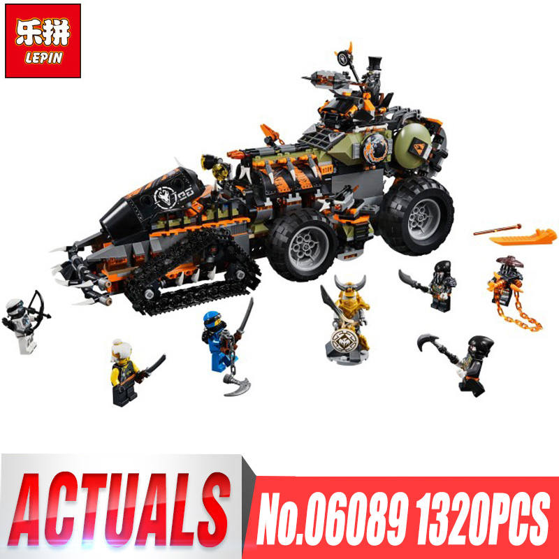 Lepin 06089 New Toys 1320PCS Ninjago Series The Legoing 70654 Dieselnaut Set Building Blocks Bricks Kids Toys As Birthday Gift new 1628pcs lepin 07055 genuine series batman movie arkham asylum building blocks bricks toys with 70912 puzzele gift for kids