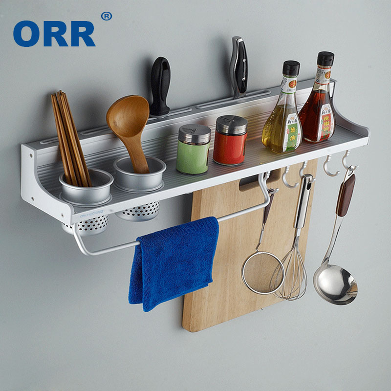Kitchen Rack storage Free shipping High Quality Multifuncional Fastnes Wall Mounte shelf Estante cocina prateleira cozinha ORR