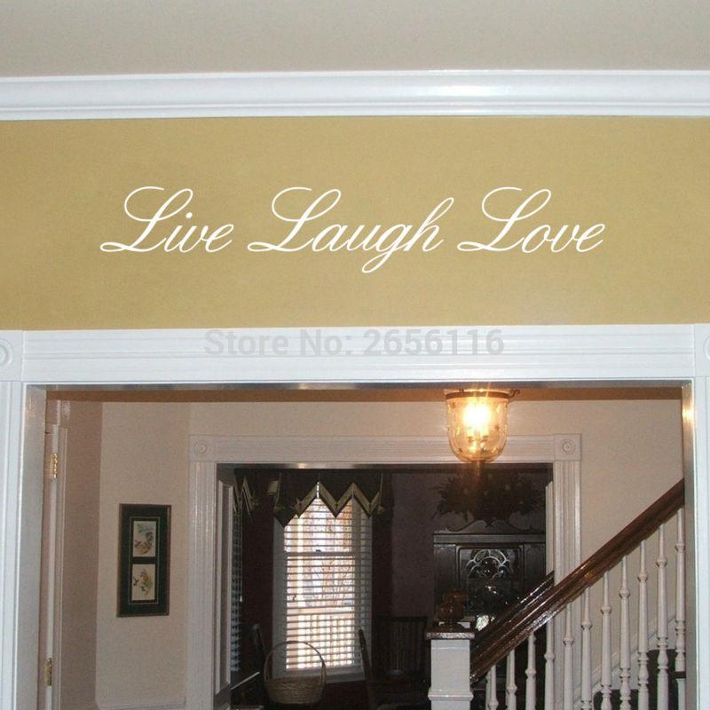 Anglické citáty Živé smíchy Láska Samolepky na zeď Vinyl Vyměnitelné samolepky na zeď pro dekorace v obývacím pokoji