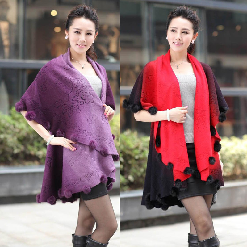 2018 New arrival Sweater women woolen coat long cardigan sweater shawl cape cloak bat sleeved women W267