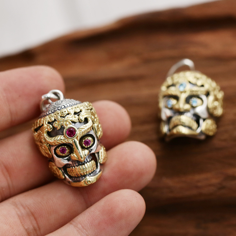 Wholesale S925 Sterling Silver Jewelry Vintage Thai Silver Thai Buddha Braided Personality Punk Men And Women PendantsWholesale S925 Sterling Silver Jewelry Vintage Thai Silver Thai Buddha Braided Personality Punk Men And Women Pendants