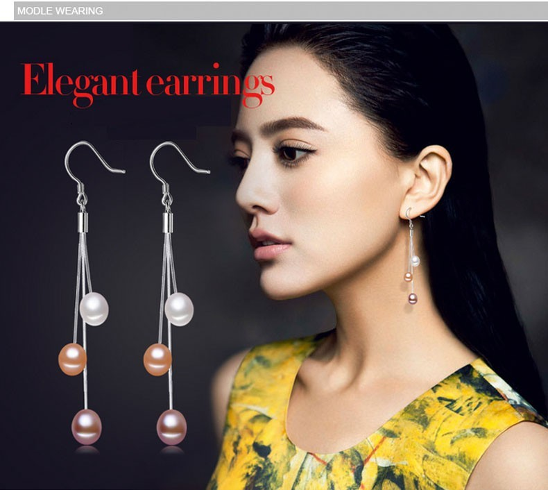 HTB1xs7sNpXXXXa6XFXXq6xXFXXXM - ZHBORUINI 2019 Pearl Earrings Natural Freshwater Pearl Tassels Pearl Jewelry Drop Earrings 925 Sterling Silver Jewelry For Woman