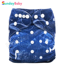 1 pc new pattern reusable baby cloth diaper with microfleece inner washable cloth diapers nappies for 0-2years