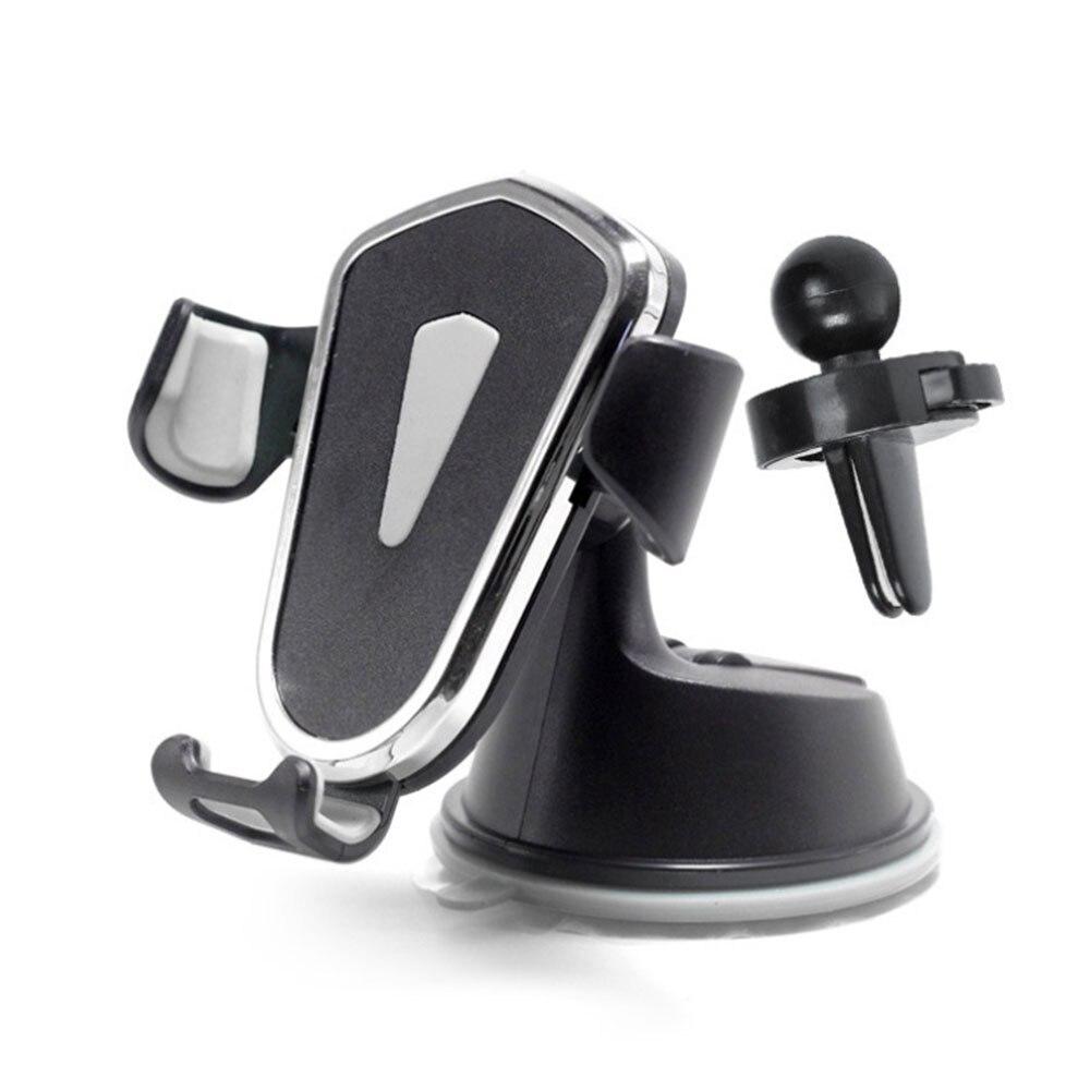 Держатель для gps Автомобильный держатель для телефона универсальный автомобильный держатель для смартфона держатель HUD дизайн 2в1 автомобильный вентиляционный вентилятор Регулируемый 360 ° - Цвет: gray
