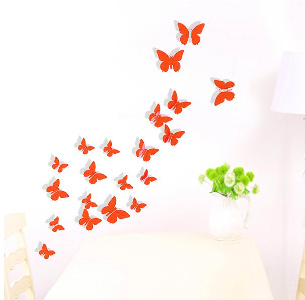popular butterfly 24 buy cheap butterfly 24 lots from china new hotsale promotion new 3d diy wall sticker butterfly home decor room decorations 12 24 36