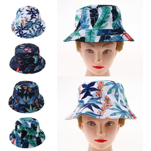 Panama Bucket Hat Men Women Summer Cap Banana Print Bob Hip Hop Gorros Fishing Fisherman Hunting