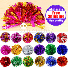 Free Shipping 22 colours Pompom,Cheering pompom Metalic pom pom Cheerleading products 30G 22 colours