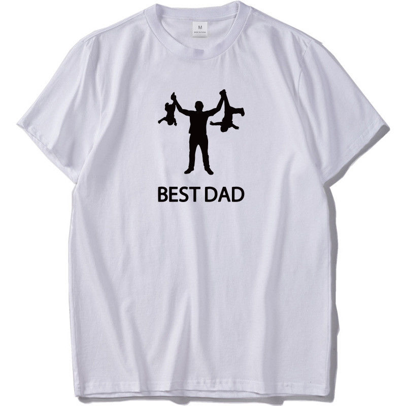 Best Dad T Shirt Man Funny Father Day Gift Shirts Cotton T-shirt US Size
