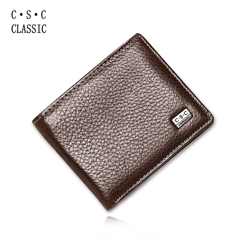 Wallet Mens Red Brown Real Top Layer Cowhide Genuine Leather Bifold Clutch Short Wallet Purse Pouch