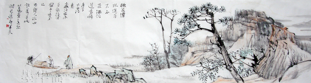 100% handpainted famous Artist Chinese landscape ink painting new year wedding decoration Gift Collection - [MoHuaZhai]art gallery store